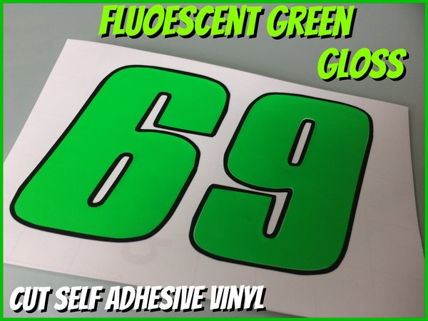 motorbike , scooter or car number cut self adhesive number decals stickers