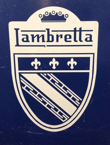 Lambretta badge self adhesive vinyl decals,stickers,graphics transfers