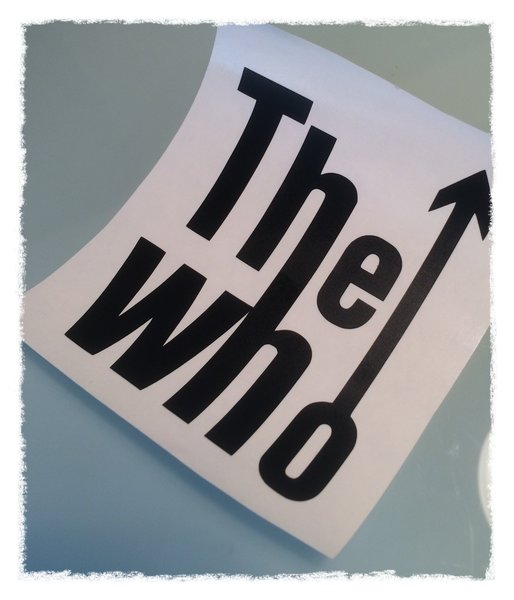 The who self adhesive vinyl decal comes in various sizes,colours and finishes now comes in metallic coloured chrome