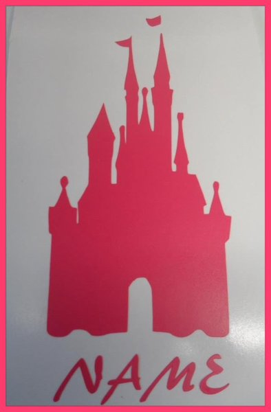 girls bedroom wall art with personal name added princess castle