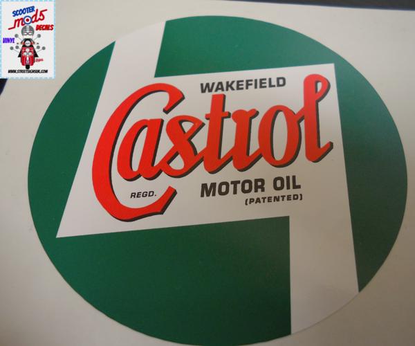 Castrol wakefield motor oil logo self adhesive vinyl decal , sticker