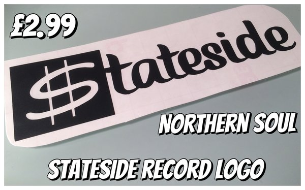 northern soul stateside record label logo self adhesive vinyl decal , sticker , wall art