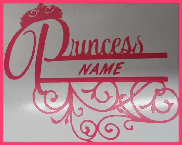 princess vinyl wall art can be applied to wall or door www.streetsignsuk.com