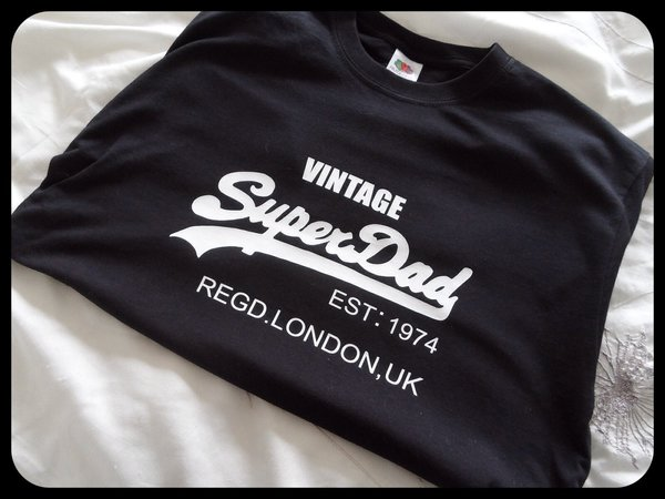 Personal vintage superdad or daddy since t shirt or hoodie just add year and city