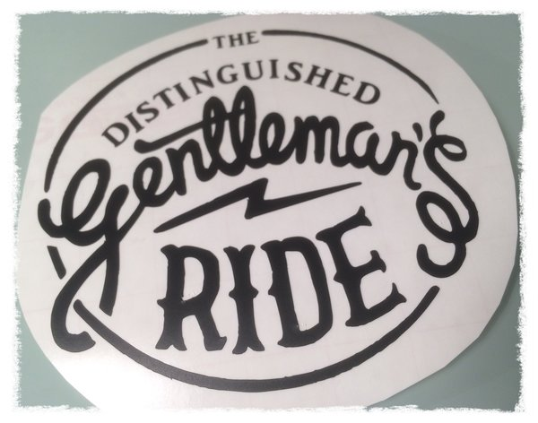 The Distinguished Gentlemans Ride scooter/motorbike decal , sticker