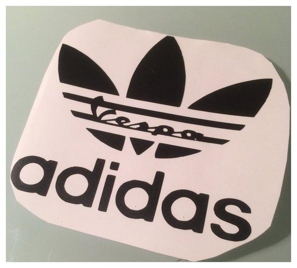 adidas vespa self adhesive die cut vinyl decal/sticker/wall art