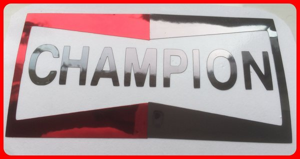 CHAMPION SPARK PLUG LOGO SELF ADHESIVE VINYL/CHROME DECAL