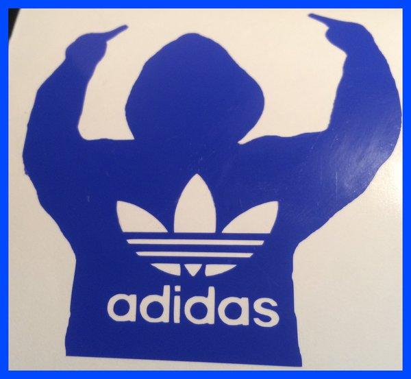 adidas self adhesive vinyl decal,sticker,wall art bespoke design