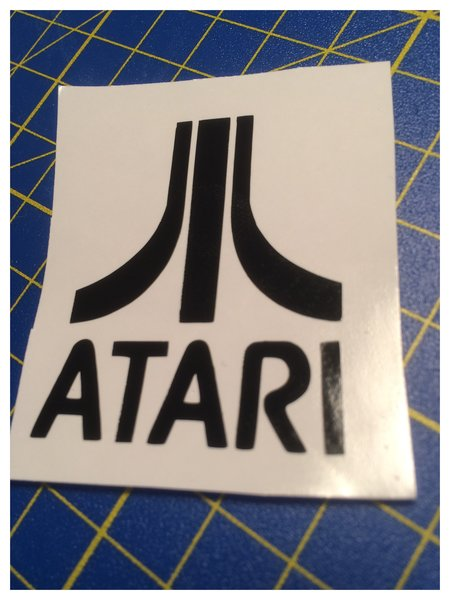ATARI self adhesive vinyl decal/sticker comes in various sizes colours and finishes