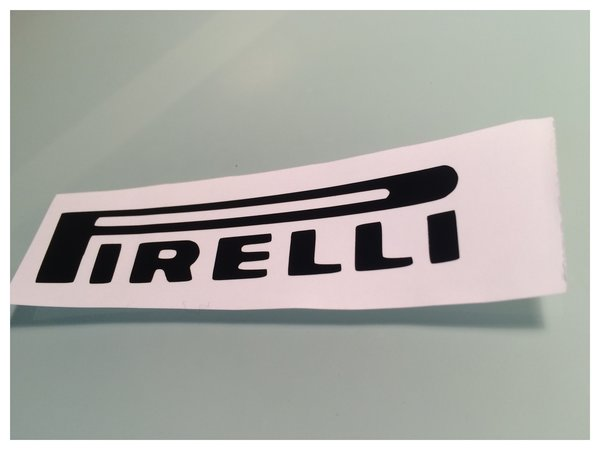 pirelli self adhesive vinyl scooter decal comes in various sizes colours and finishes also in coloured metallic chrome