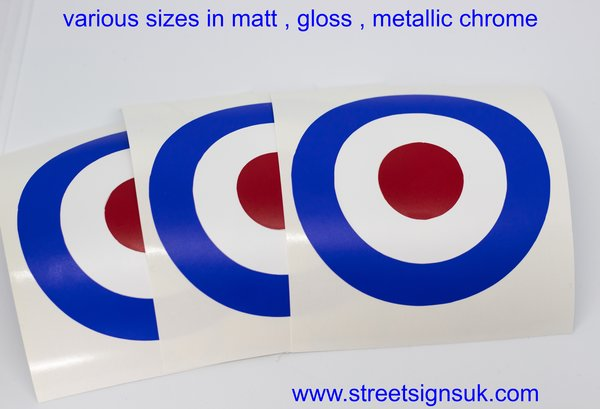 mod target decal sticker British or Italian colours now new reflective vinyl