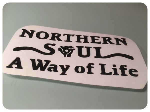 northern soul way of life die cut self adhesive vinyl decal/sticker/graphics
