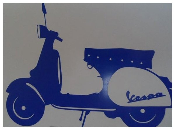 vespa scooter wall art/decal/sticker comes in various colours and sizes