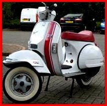 scooter stripes decals can be applied to leg shield and panels come in various colours and lengths