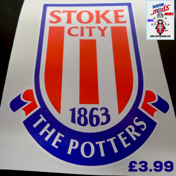 Stoke City F.C The potters print and cut self adhesive vinyl decal sticker