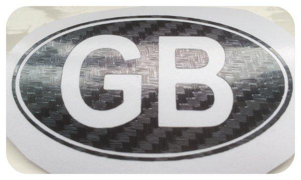 G B self adhesive die cut vinyl decal sticker badge for motorbike,car,van,scooter