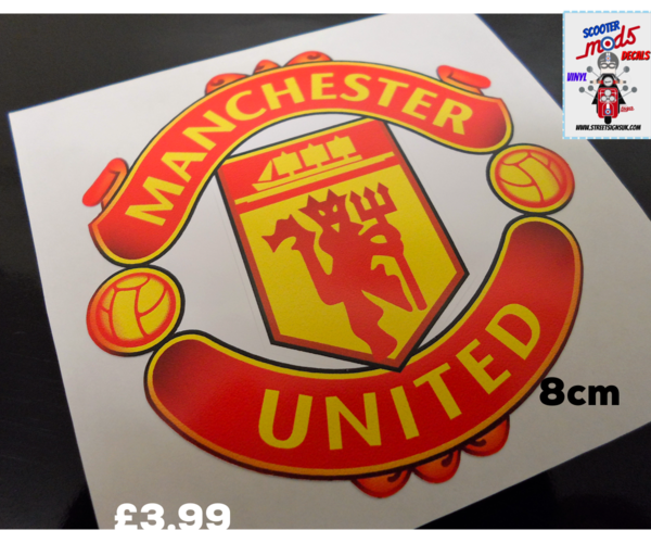 Manchester United F.C self adhesive vinyl car sticker , scooter sticker , wall art