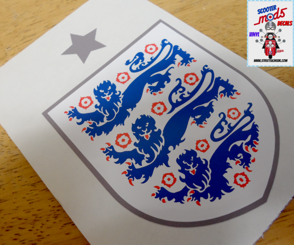 England fc self adhesive vinyl decal sticker ,wall art , car sticker , scooter decal