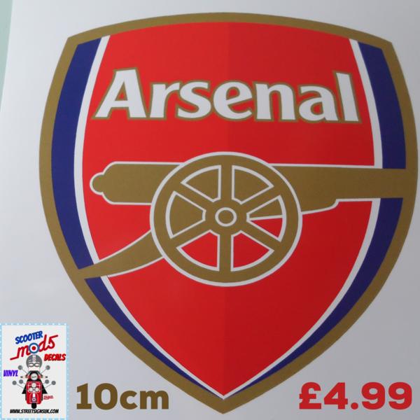 Arsenal fc die cut printed and cut full colour sticker decal wall art