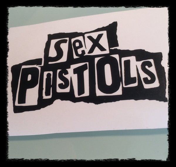 The sex pistols self adhesive vinyl decal/sticker various sizes colours and finishes