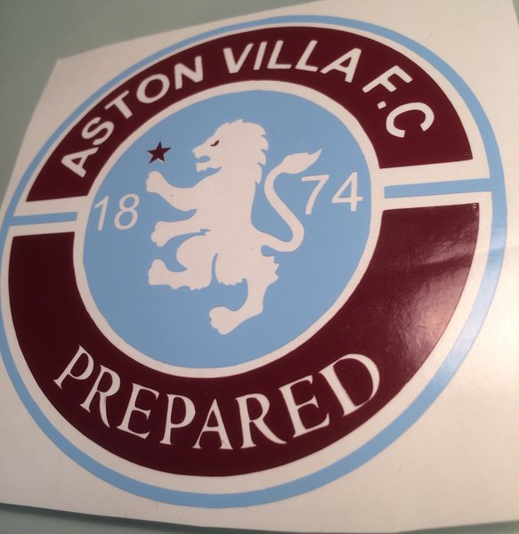 Aston villa F C self adhesive vinyl decal sticker graphics transfer wall art