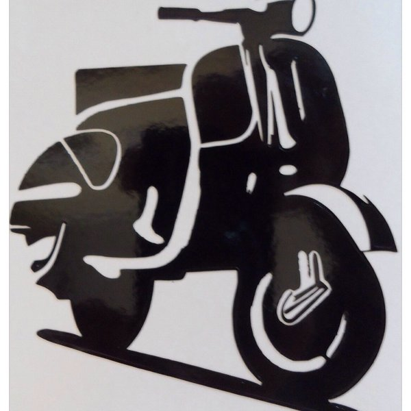 vespa silhouette wall art self adhesive apply to any surface laptop, tablet, wall, door