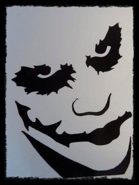 The joker self adhesive wall art/decal/sticker designed by www.streetsignsuk.com