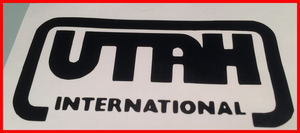 utah international self adhesive vinyl decal comes in various sizes and coloura