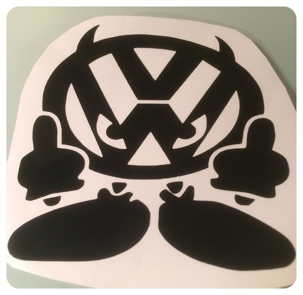 volkswagen devil logo decal/graphics/sticker can be applied to car van or camper
