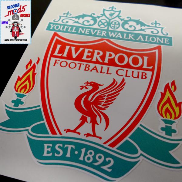 Liverpool F.C car sticker , scooter sticker , wall art graphic