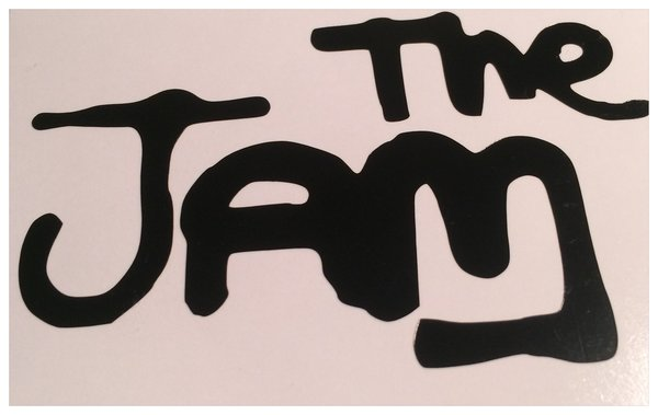 THE JAM self adhesive vinyl decal/sticker comes in various sizes and colours