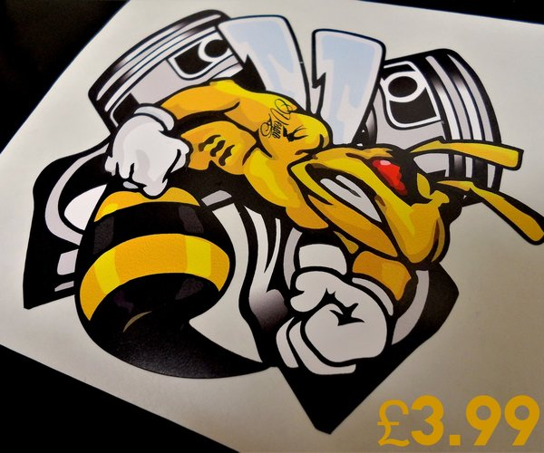 piston vespa wasp design print and cut decal sticker wall art