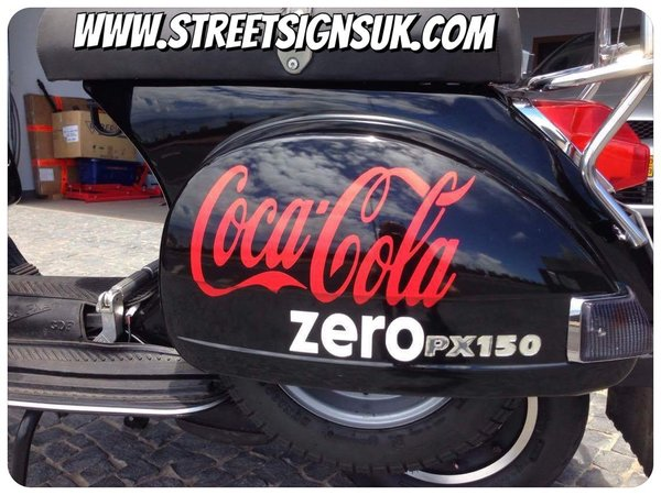 coca cola logo self adhesive vinyl decal comes in various colours sizes and finishes now in coloured metallic chrome