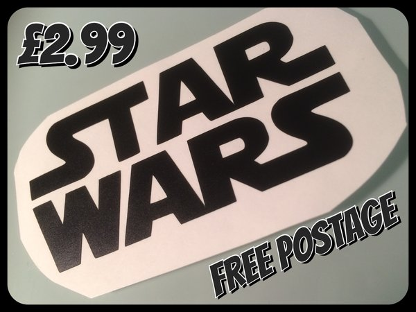 star wars logo self adhesive vinyl die cut vinyl comes in various sizes colours and finishes