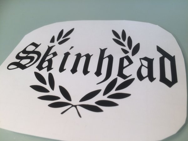 skinhead in laurel self adhesive vinyl decal/sticker/graphics comes in various sizes colours and finishes