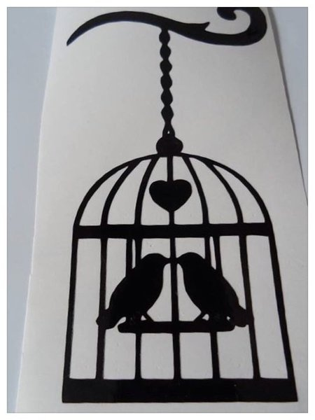 shabby chic bird cage with two lovebirds comes in various colours and sizes