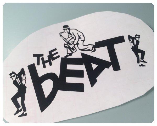Bespoke Design The Beat die cut self adhesive vinyl decal , sticker , graphics