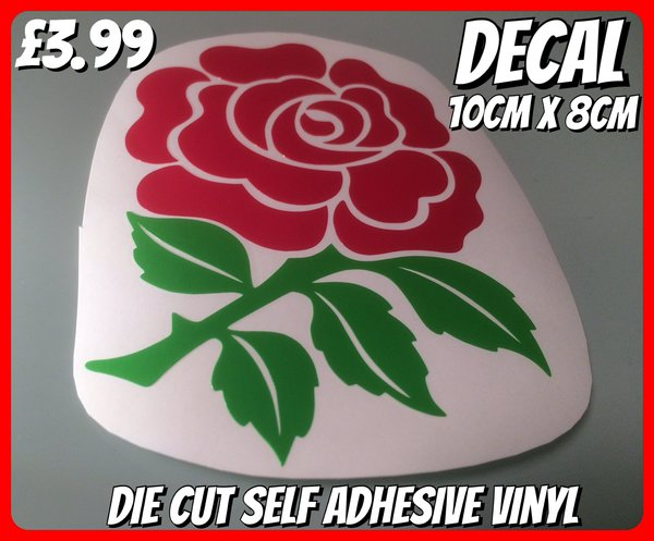 English Rose scooter decal , sticker comes in matt gloss or metallic chrome