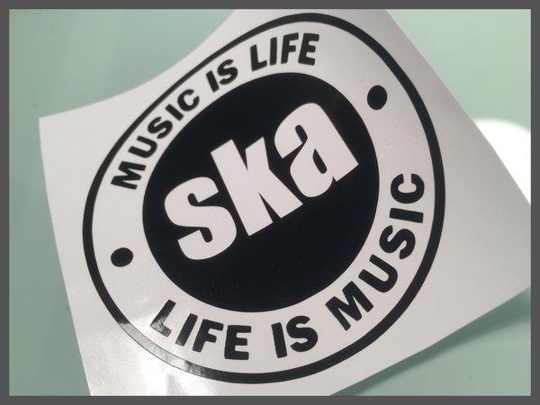 SKA self adhesive vinyl decal MUSIC IS LIFE SKA car van scooter motorbike decals