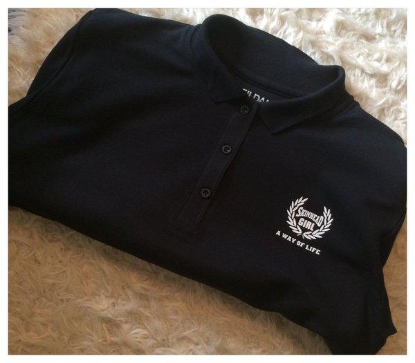 NEW DESIGN skinhead girl premium pique polo shirt 100% cotton ring spun