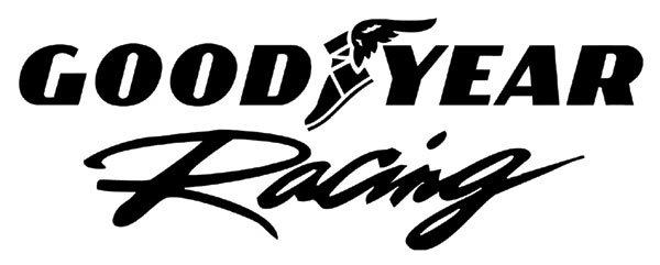 goodyear racing logo in self adhesive vinyl decal/sticker in various colours sizes new coloured metallic chrome
