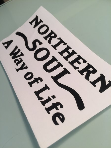 northern soul way of life self adhesive vinyl decal comes in various sizes colours finishes now in chrome coloured