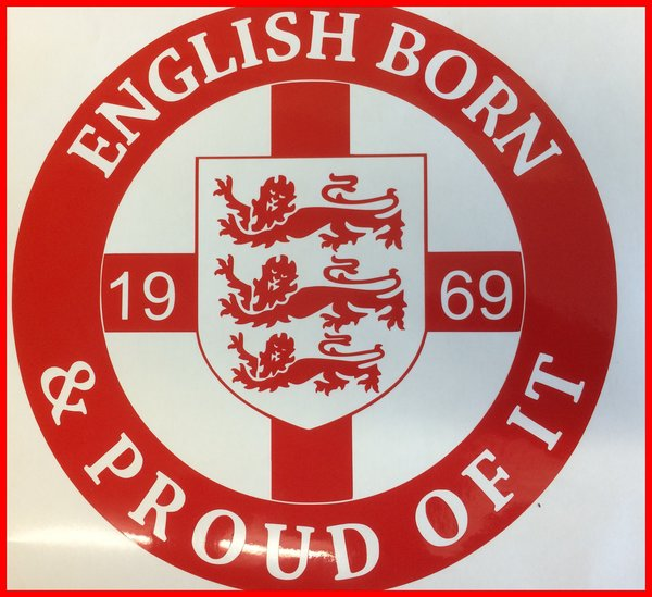 English born and proud of it cut vinyl decal now comes in reflective vinyl