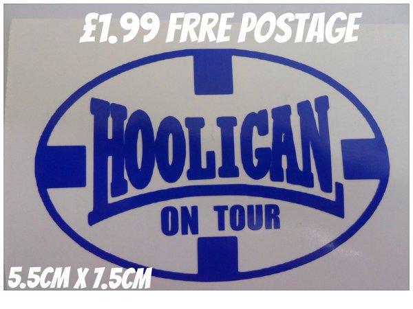 hooligan on tour scooter,car,van,motorbike decal sticker transfer