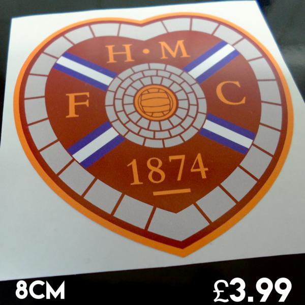 Heart of midlothian F.C car sticker , scooter sticker , van graphics ,wall art