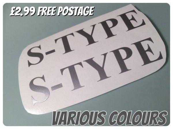 x2 Lambretta s type self adhesive die cut vinyl decals , stickers , graphics