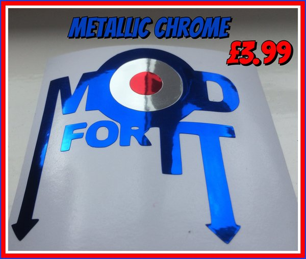 mod for it cut vinyl or chrome self adhesive decal