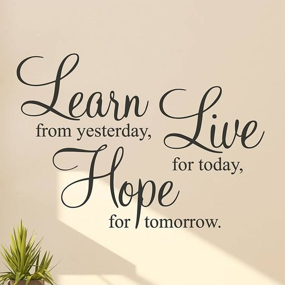 LEARN LIVE HOPE wall art self adhesive vinyl comes in various colours and sizes