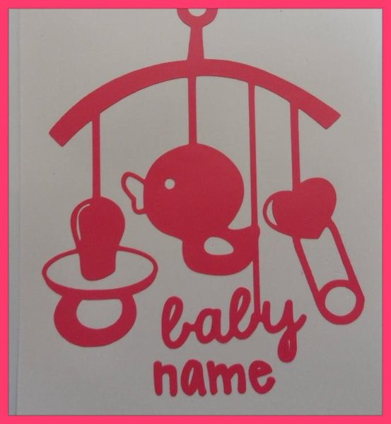 Nursery vinyl wall art comes in blue or pink other colours avaliable