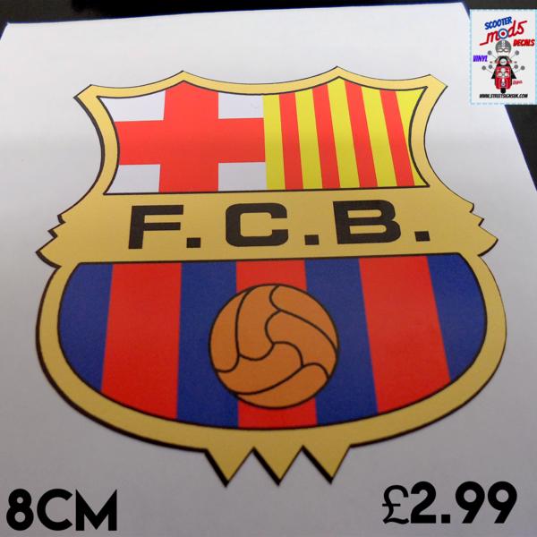 Barcelona F.C self adhesive vinyl car sticker , scooter sticker , wall art